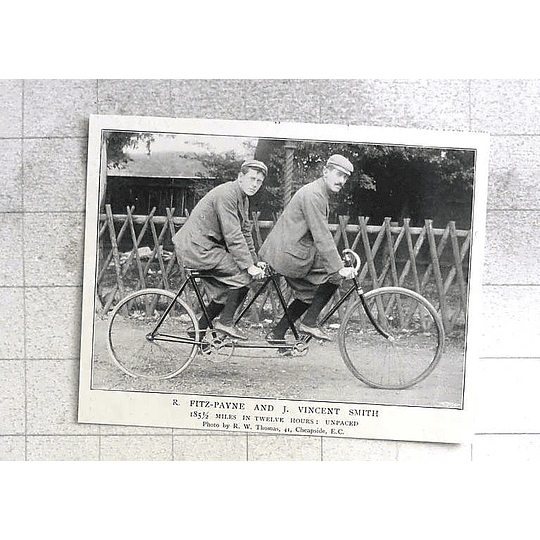 1897 185 Miles On Tandem 12 Hours Unpaced, R. Fitz-Payne Vincent Smith