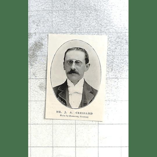 1897  Ja Cressand Photo By Dumaresq, Guernsey