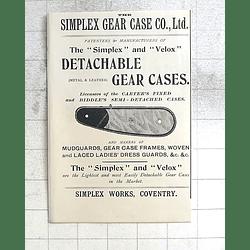 1897 The Simplex Detachable Gear Case Coventry