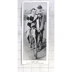 1897 Interesting Photo Of Harry Lee Ready For Start Of Track Race Sheffield
