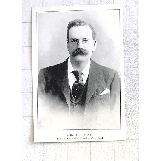 1897 Mr F Peach, Photo Studio Tottenham Court Road