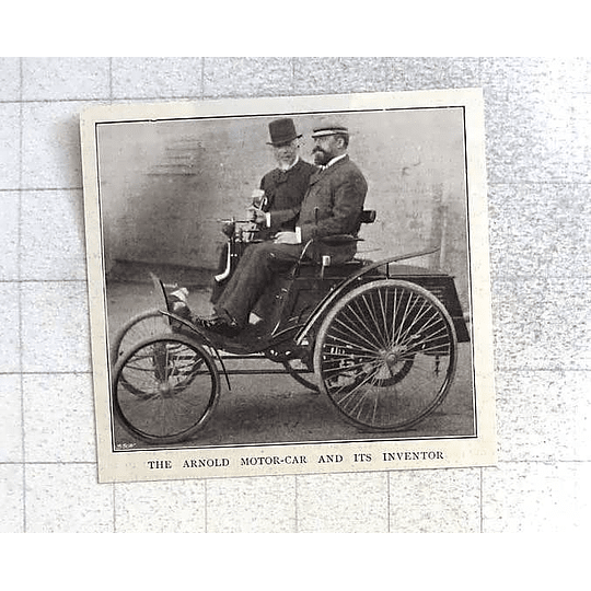 1897 The Arnold Motorcar And Its Inventor