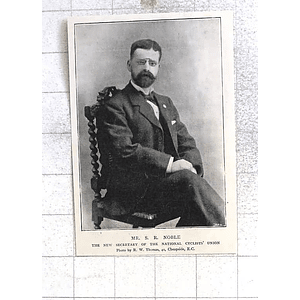 1897 Mr Sr Noble Secretary Cyclists Union