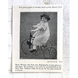 1897 Enthusiastic Small Cyclist Master Cecil Barry Blacker Near Basingstoke
