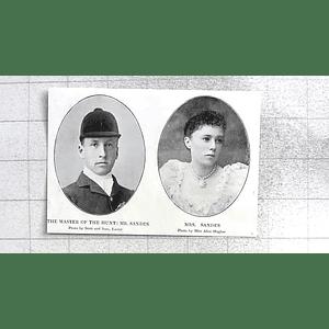 1897 Mr And Mrs Sandes