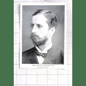 1897 Lord George Hamilton Mp, Enthusiastic Cyclist