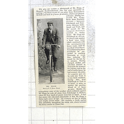 1897 Mr Hogg Of Morpeth Northumberland Cycling Record