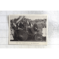 1897 The First Motorcar In The Transvaal, Enthusiastic Crowd