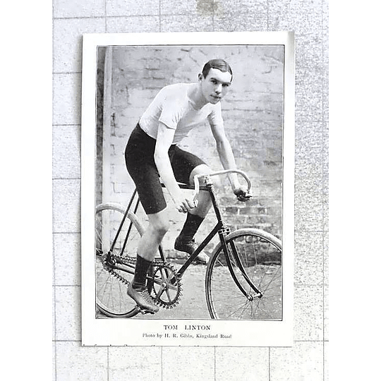 1897 Great Photo Of Tom Linton On His Bike