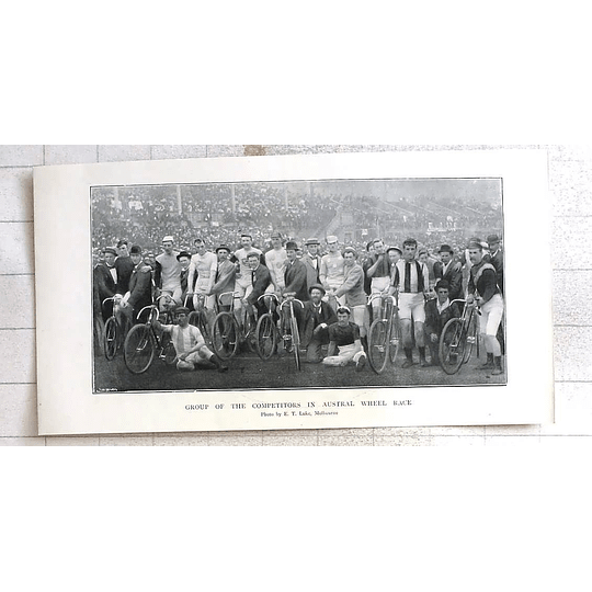 1897 Group Of Competitors In Austral, Wheel Race Melbourne