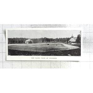1897 New Racing Track At Stockholm