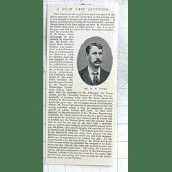 1897 Mr Hw Dover Gear Case Inventor