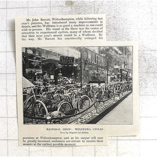 1897 Mr John Barratt, Wolverhampton, Wulfruna Cycles