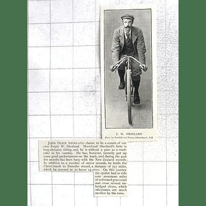 1897 John Olive Shorland Long Distance Rider, New Zealand