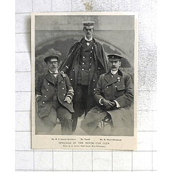 1897 Motorcar Club Officials Lawson, Turrell, Moore,