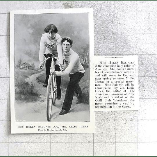 1897 Miss Helen Baldwin Champion Lady Rider America Dixie Hines