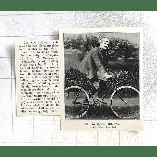 1897 Mr W Scott- Brecken North Road Club, York