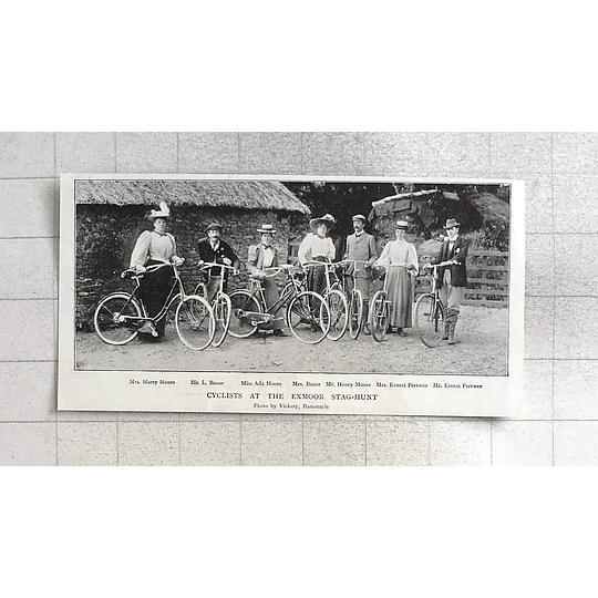 1897 Cyclists At Exmoor Stag Hunt, Moore, Bauer, Pertwee