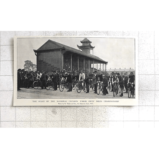 1897 Start Of The National Cyclists Union 50 Miles Championship
