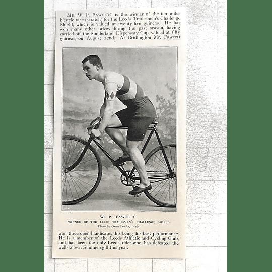 1897 Wp Fawcett Winner Of Leeds Tradesman's Challenge Shield