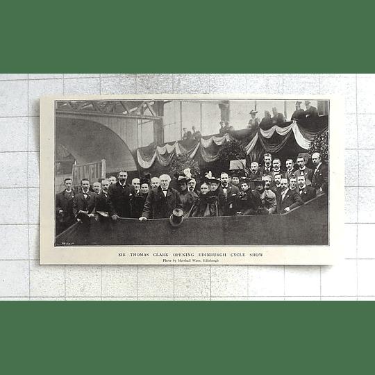 1897 Sir Thomas Clark Opening Edinburgh Cycle Show