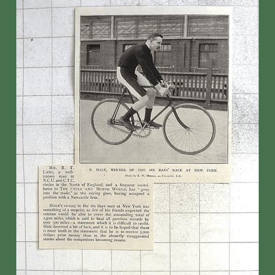 1897 Mr E. Hale Wins Six Days Race At New York