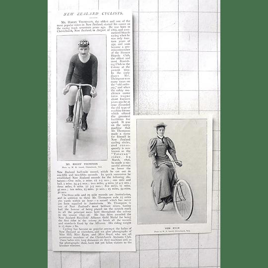 1897 New Zealand Cyclists Harry Thompson, Ms Ryan