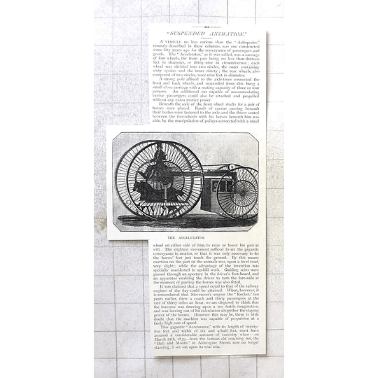 1897 Enormous Wheeled Passenger Transport Conveyance, The Accelerator