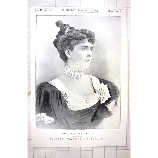 1897 Distinguished Lady Cyclist, Countess Hatzfeldt