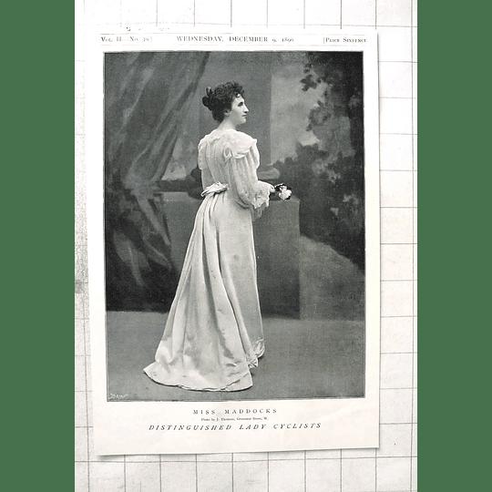 1897 Distinguished Lady Cyclist, Miss Maddocks