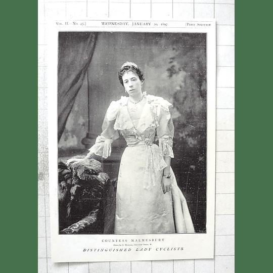 1897 Distinguished Lady Cyclist, Countess Malmesbury