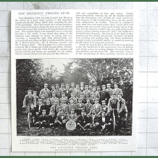 1897 The Islington Cycling Club, Photo, Names