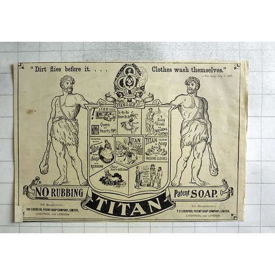 1893 Your Clothes Wash Themselves Using Titan Soap, Liverpool