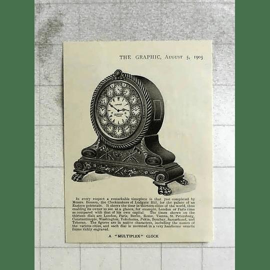 1905 Ludgate Hill Clockmakers Benson Multiplex Clock
