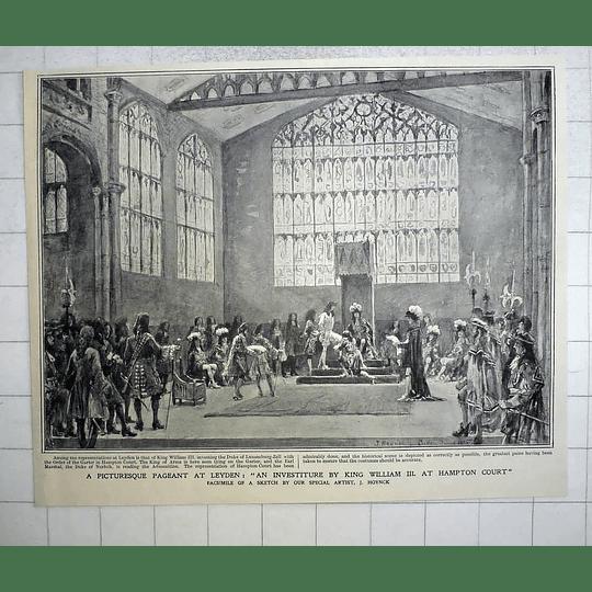 1905 Picturesque Pageant Leyden Investiture King William III Hampton Court