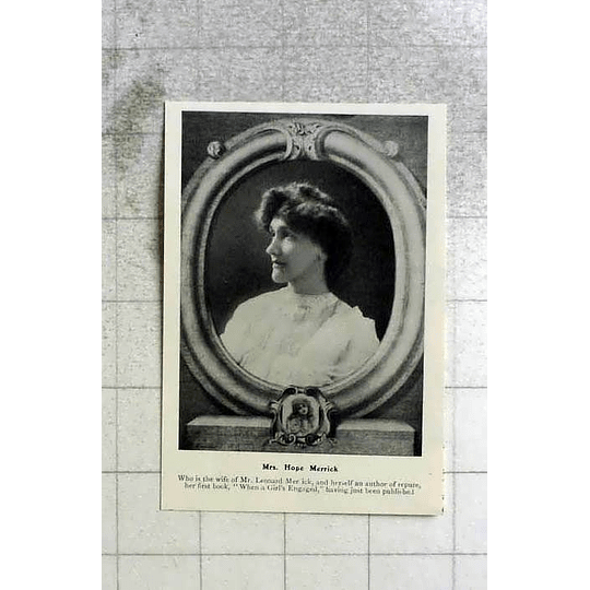 1905 Mrs Hope Merrick Publishes Her First Book When Girls Engaged
