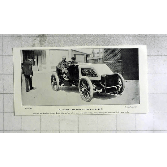 1905 Mr Girardot at Wheel 100 Hp Cg V Special Design