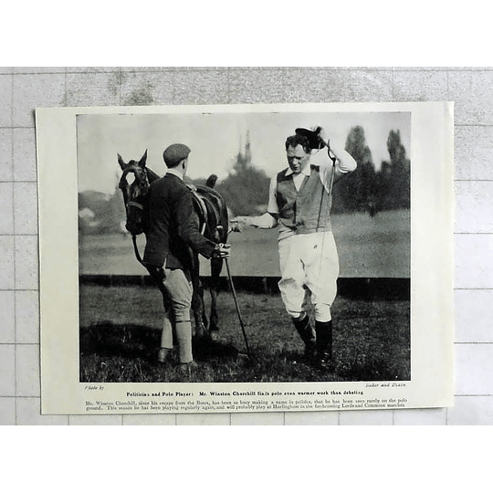 1905 Winston Churchill Now Rarely On The Polo Ground, Warm Work
