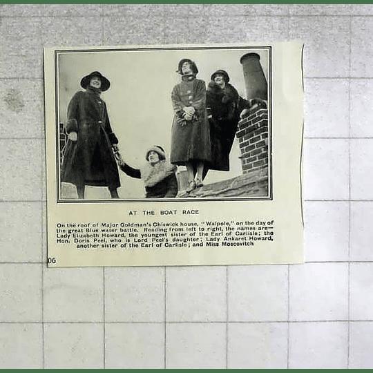 1922Roof Of Maj Goldmans Chiswick House Walpole, Doris Peel, Miss Moscovitch