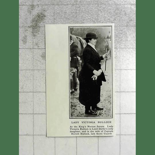 1922 Lady Victoria Bullock At The Kings Norton Fixture