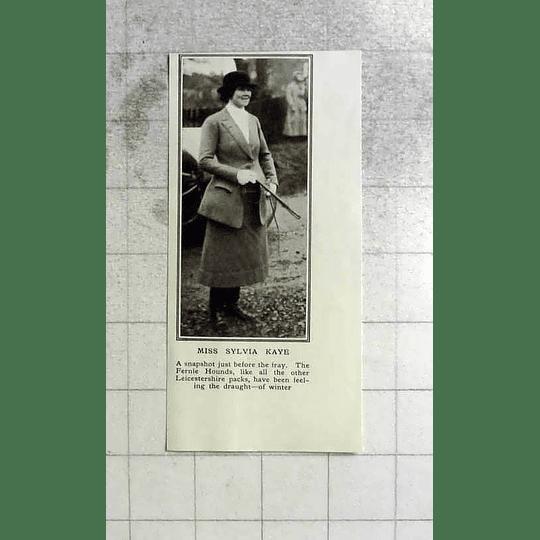 1922 Miss Sylvia Kaye, Fernie Hounds