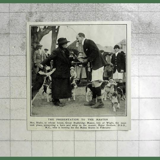 1922 Mrs Blake At Great Budridge Manor Isle Of Wight, Maj Graham