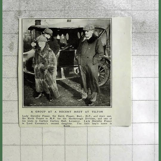 1922 Lady Dorothy Fraser And Sir Keith At A Recent Meet, Tilton
