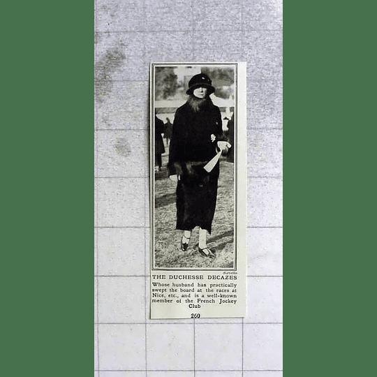 1922 The Duchess Decazes