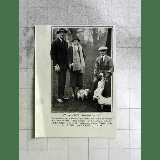 1922 Philip Magor, Lady Beryl Gilbert, Captain Lucas Cottesmore Meet