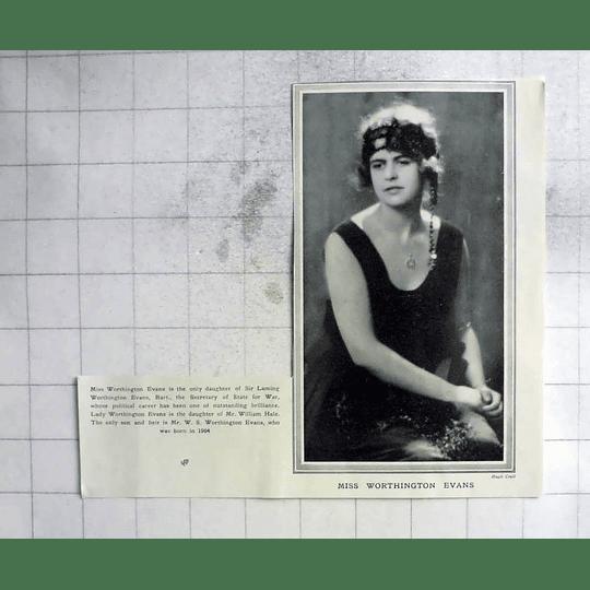 1922 Miss Worthington Evans Seated Pose