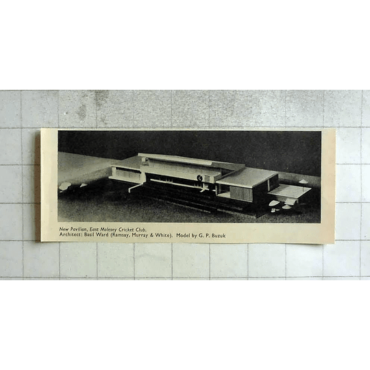 1955 New Pavilion, East Molesey Cricket Club, Model By Gp Buzuk