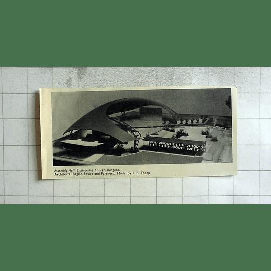 1955 Assembly Hall, Engineering College, Rangoon
