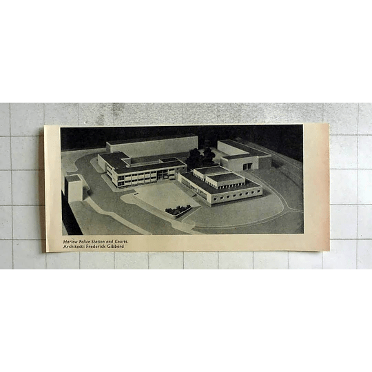 1955 Model Of Harlow Police Station And Courts Architect Frederick Gibberd