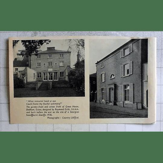 1955 Garden And Street Front Of Great House, Dedham, Essex